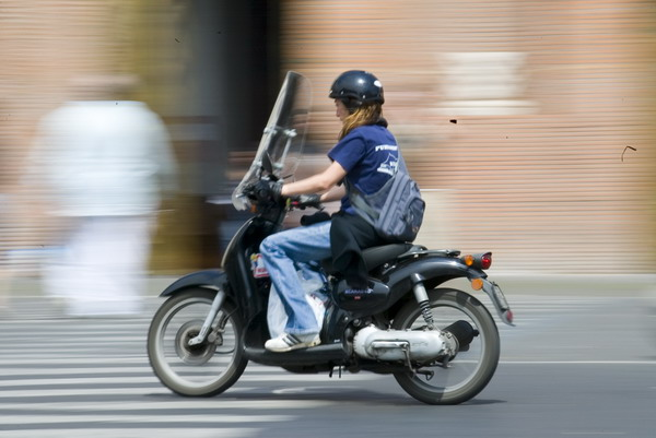 Panning photography in Rome