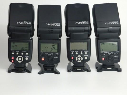 YN560II+YN560EX+YN565EX+YN568EX