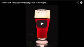 how to photograph beer glasses