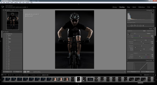 The cyclist - final LR tweaks