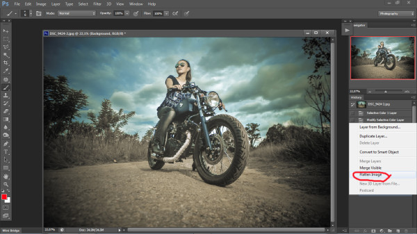 biker photography - photoshop step 4