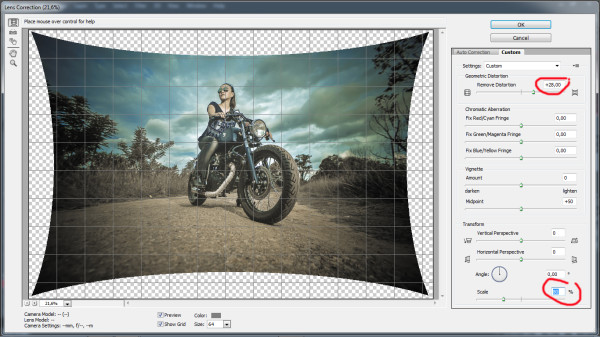 biker photography - photoshop step 5