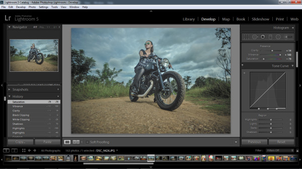 biker photography - step 2the image