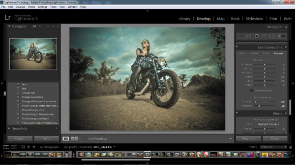 biker photography - lens vintaging