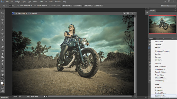 biker photography -in  photoshop