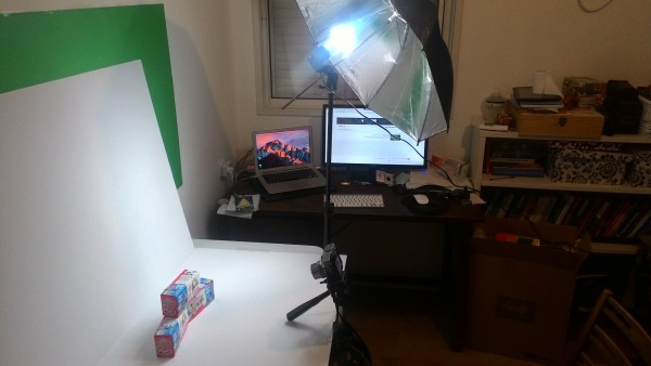 surprise eggs photography setup