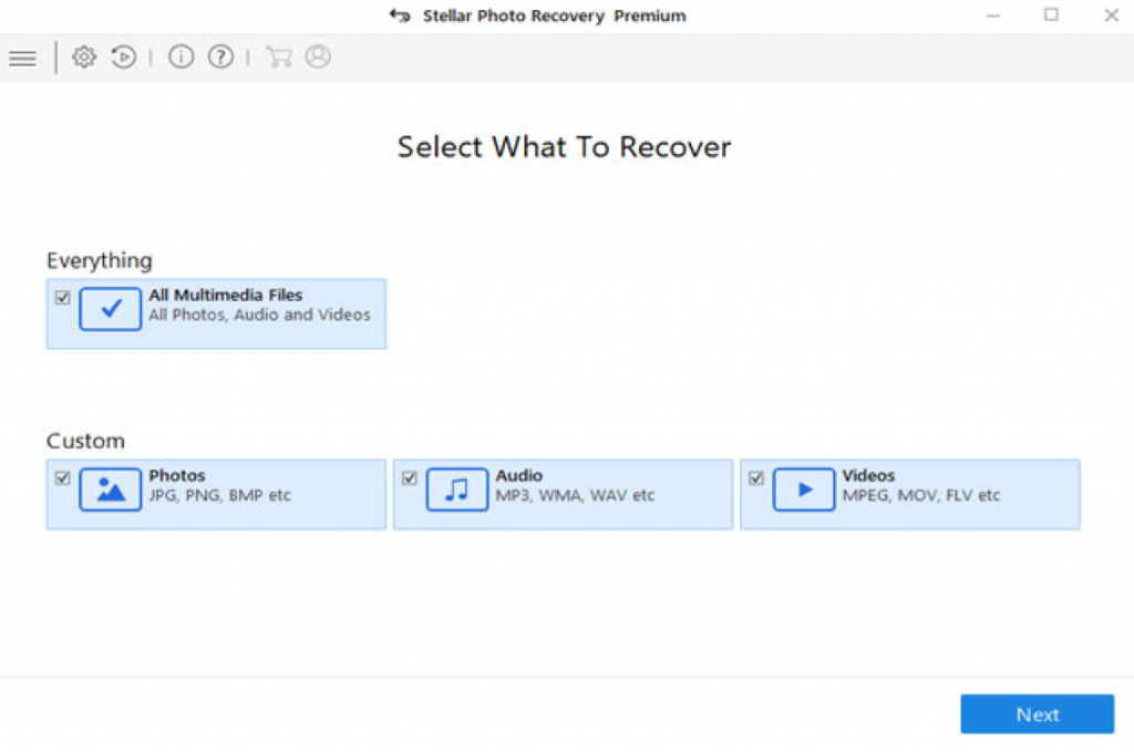 stellar recovery-select what to recover