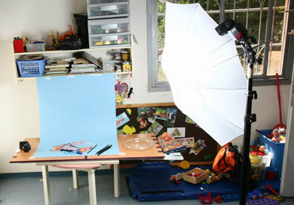 Easy two lights product photography setup