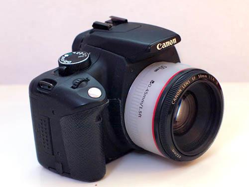 DIY White Canon 50 f/1.8