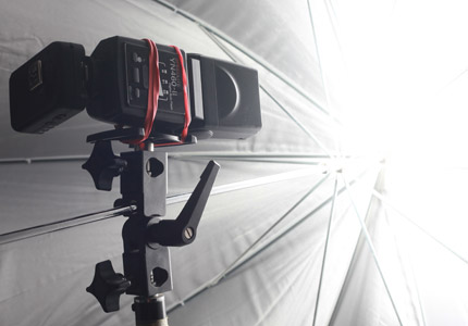 Horizontal Flash Holder/Adapter