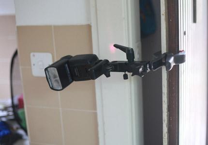 DIY Spring Clamp Flash Holder